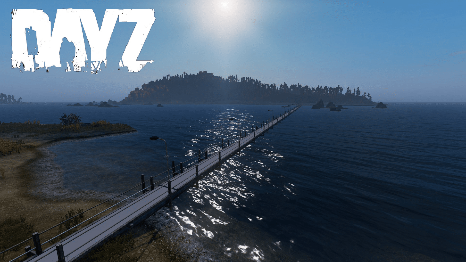 New bridge to Skalisty Island