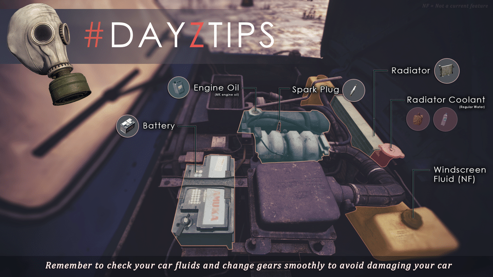 DayzTips 4 Brake fluid That explains a lot